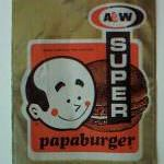 A&W Root Beer Papa Burger
