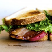 Bacon Lettuce and Beet Sandwich