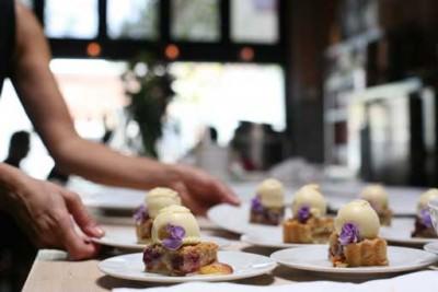 Dessert line at Beast Restaurant Portland