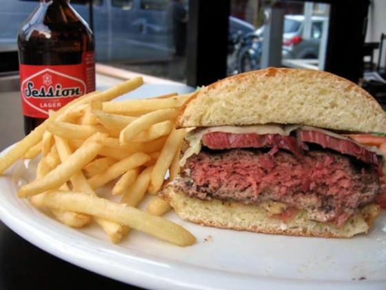 Kenny & Zukes Deli Portland Pastrami Burger
