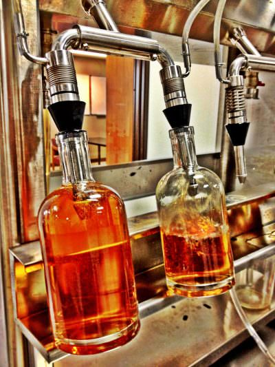 Bull Run Distillery bottling line
