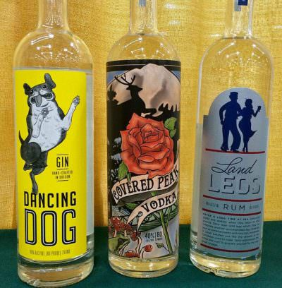Flooded Fox Den Distillery product lineup