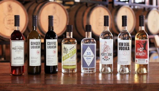 New Deal Distillery Portland lineup