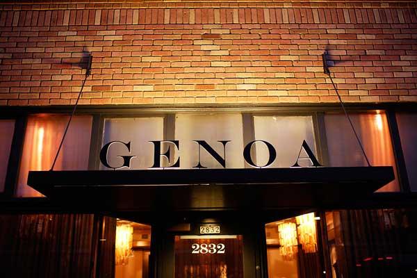 Front Of Genoa Restaurant Portland