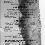 Mallory Motor Hotel Menu – 1965