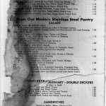 By Request, More Mallory Motor Hotel Menus from1965