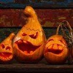 Halloween pumpkin squash