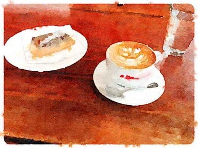 Coffee and pastry