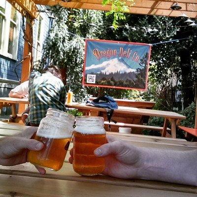 Oregon Deli outdoor dining in Portland