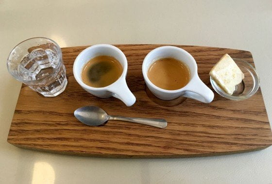 Coffee Flight at Either/Or coffeehouse