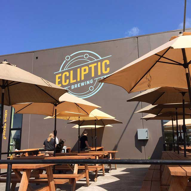 Ecliptic Brewing outdoors