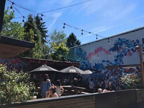 The Cruz Room Portland outdoor dining
