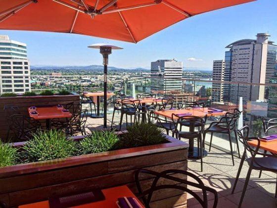Departure Restaurant Portland outdoor dining