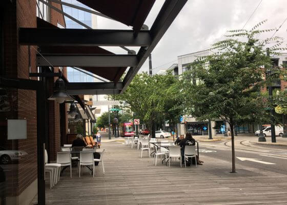 Lovejoy Bakers Portland Pearl District outdoor dining 2