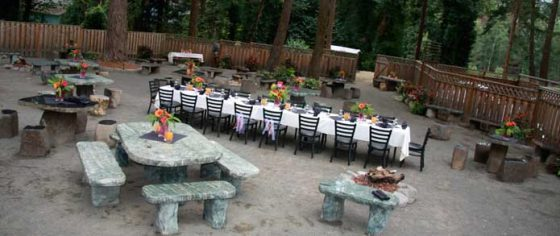 Shirley's Tippy Canoe patio - Welches OR