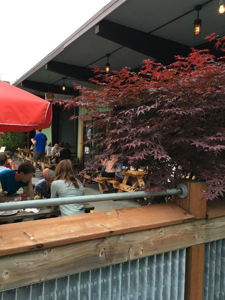 The Bye and Bye bar outdoor dining