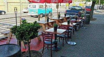 Analog Cafe Portland outdoor dining