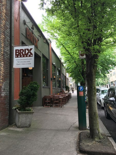 Brix Tavern Portland outdoor dining