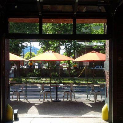 Cerulean Wine Bar Portland outdoor dining