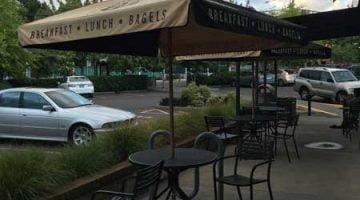 Einstein Bros Bagels Hillsdale Portland outdoor dining