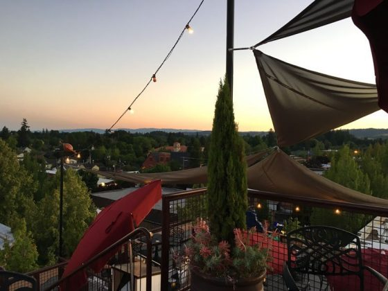 McMenamins Hotel Oregon rooftop outdoor dining