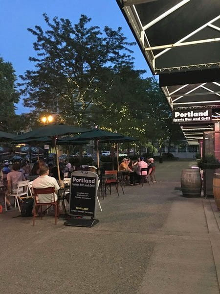 Portland Sports Bar & Grill outdoor dining