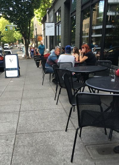 Vault Martini outdoor dining