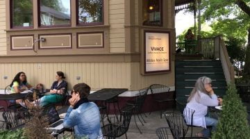 Vivace Coffeehouse and Creperie Portland outdoor dining