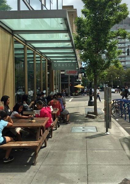 Grassa Restaurant Portland outdoor dining