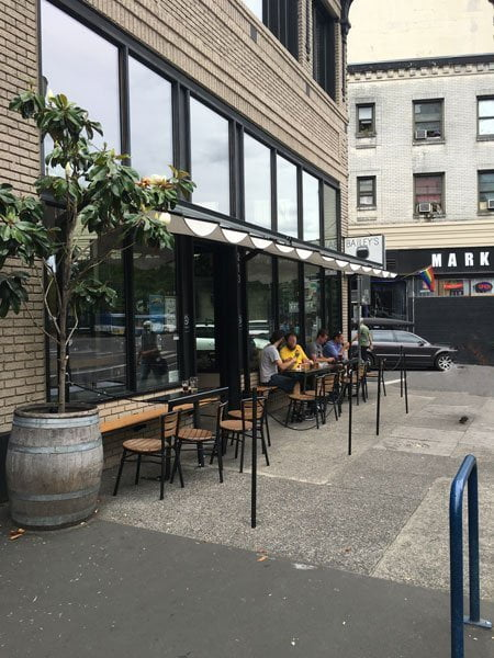 Bailey's Taproom Portland outdoor dining