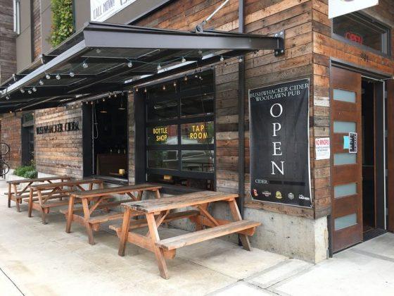 Bushwhacker Cider Portland outdoor dining