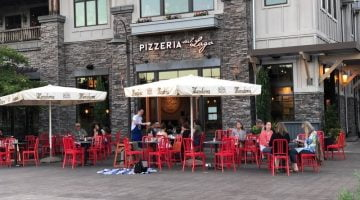 Pizzeria Sul Lago Lake Oswego outdoor dining