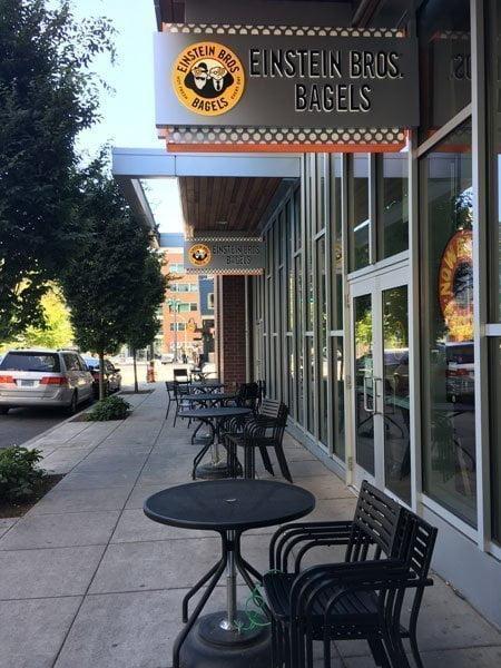 Einstein Bros. Bagels Portland PSU outdoor dining