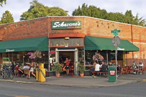 Sckavones Restaurant Portland outdoor dining