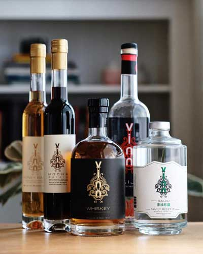 Bottles at Vinn Distillery