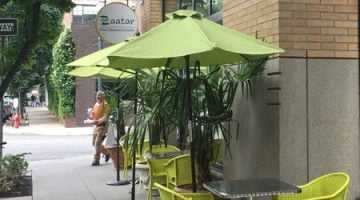 Zaatar Lebanese Restaurant Portland outdoor dining
