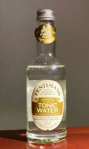 a bottle of 2021 Fentimans tonic water