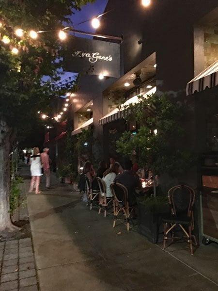 Ava Gene's Restaurant outdoor dining