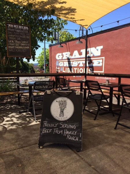 Grain & Gristle Portland outdoor dining