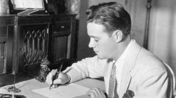 Man writing image