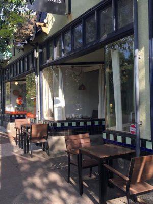 Verdigris Portland outdoor dining