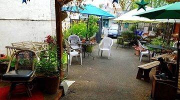 Happyrock Coffee Roasting Portland patio
