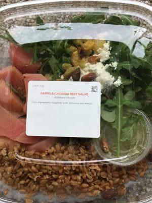 Munchery beet & farro salad