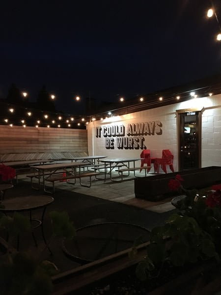 OP Wurst Portland outdoor dining