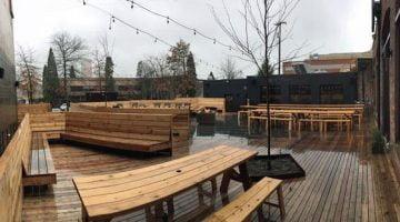 Wayfinder Beer outdoor dining portland