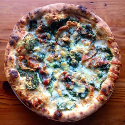 Lovely's Fifty-Fifty Portland pizza