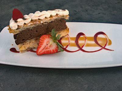 Dessert at Papa Haydn Portland