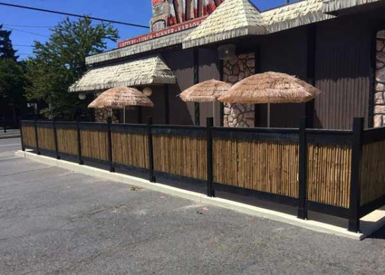 Alibi Tiki Lounge Portland outdoor dining