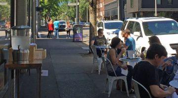 Shalom Y'all Portland patio dining