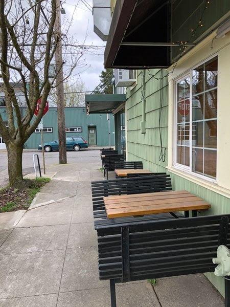 Milk Glass Market Portland outdoor dining